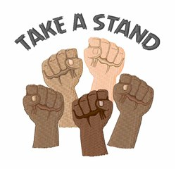 Take A Stand embroidery design