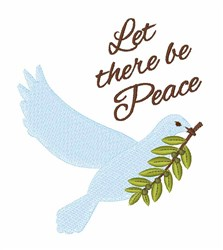 There Be Peace embroidery design