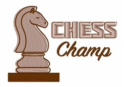 Chess Champ embroidery design