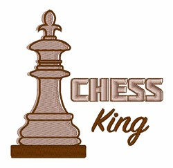 Chess King embroidery design