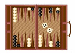 Backgammon embroidery design