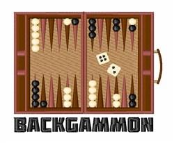 Backgammon Board embroidery design