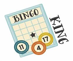 Bingo King embroidery design