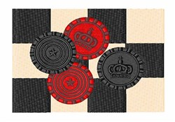 Checkers Board embroidery design