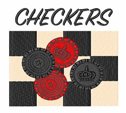Checkers embroidery design