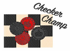 Checker Champ embroidery design