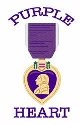 Purple Heart embroidery design