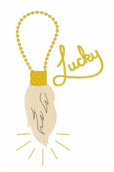 Lucky Rabbit Foot embroidery design