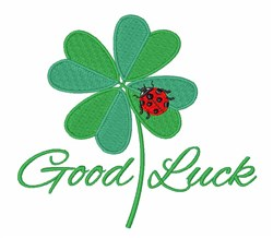 Good Luck embroidery design