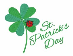 St. Patricks Day embroidery design