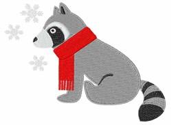 Winter Raccoon embroidery design