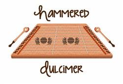 Hammered Dulcimer embroidery design