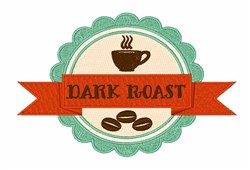 Dark Roast embroidery design