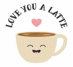 Love You Latte embroidery design