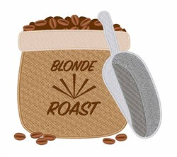 Blonde Roast embroidery design