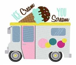You Scream embroidery design