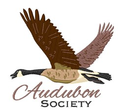Audubon Society embroidery design
