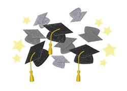 Graduation Hats embroidery design