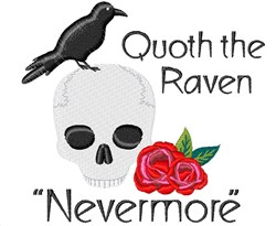 Quoth The Raven embroidery design