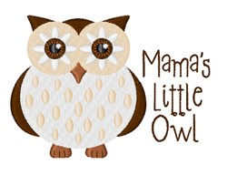 Mamas Little Owl embroidery design