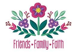 Friends Family Faith embroidery design