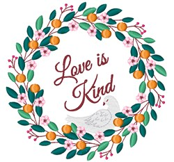 Love Is Kind embroidery design