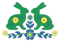 Folk Art Rabbit embroidery design