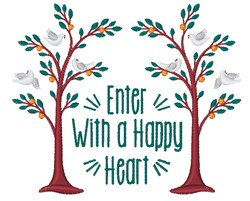 A Happy Heart embroidery design