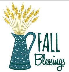 Fall Blessings embroidery design