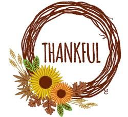 Thankful Wreath embroidery design