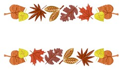 Leaves Border embroidery design