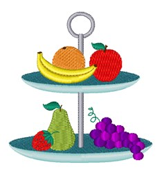 Tiered Fruit Platter embroidery design