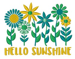 Hello Sunshine embroidery design