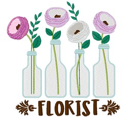 Florist embroidery design