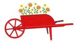 Antique Flower Cart embroidery design