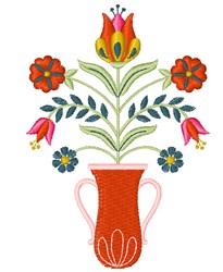 Folk Art Vase embroidery design