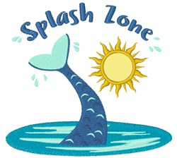 Splash Zone embroidery design