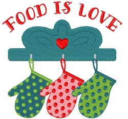 Food Is Love embroidery design