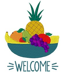 Welcome Fruit embroidery design