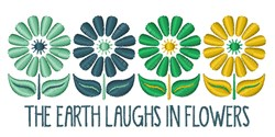 The Earth Laughs embroidery design