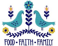 Food Faith Family embroidery design