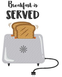 Breakfast Is Served embroidery design