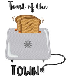 Toast Of Town embroidery design