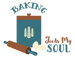 Baking Feeds My Soul embroidery design