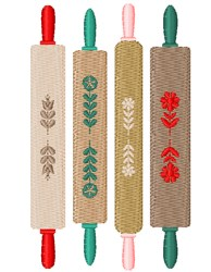 Rolling Pins embroidery design