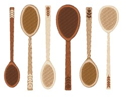 Wooden Spoons embroidery design