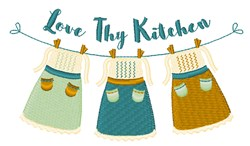 Love Thy Kitchen embroidery design