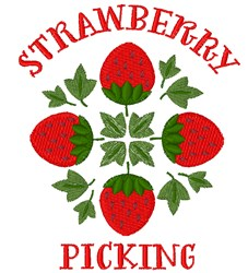 Strawberry Picking embroidery design