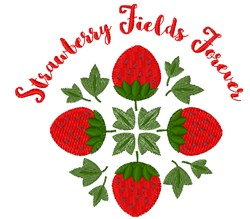 Strawberry Fields embroidery design