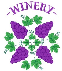 Grapes Winery embroidery design